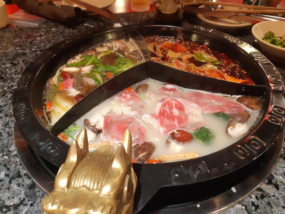 マレーシア蜀大侠(Shu Da Xia)の火鍋